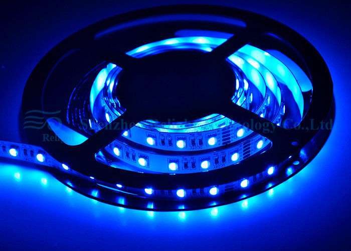 24V DC 5050 RGB LED Strip , Led Color Strip Lights With CE RoHS UL Certificate